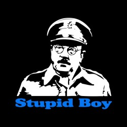 t-shirt stupid boy black...