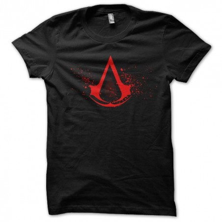 Assassins Creed red logo black sublimation t-shirt