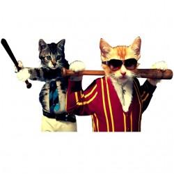 T-shirt cat brawlers white...