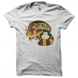 tee shirt pokemon the troupe in white sublimation trip