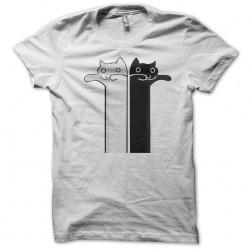 T-shirt cat twin white sublimation