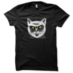 t-shirt angry cat portrait...