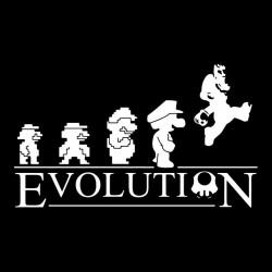 shirt Mario Evolution black sublimation
