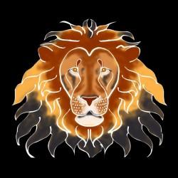 artistic lion tee black sublimation