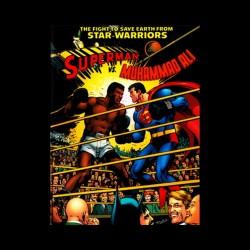 tee shirt ali vs superman poster black sublimation