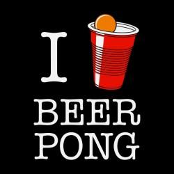 tee shirt I love beer pong...