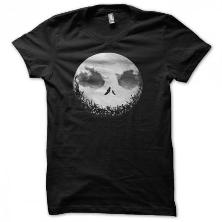 Tee shirt lune epouvante  sublimation