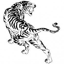 t-shirt tiger tattoo white...