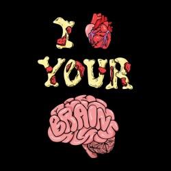 tee shirt I love your brain black sublimation