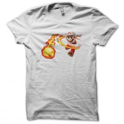 t-shirt mario white attack sublimation