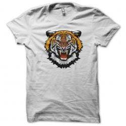tiger white sublimation t-shirt