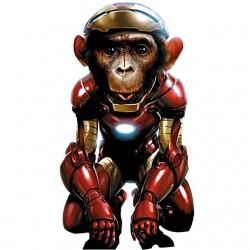 monkey t-shirt in iron man...