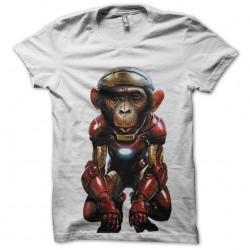 monkey t-shirt in iron man white sublimation
