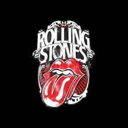 vintage rolling stones t-shirt black sublimation