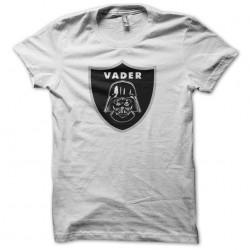 tee shirt dark vader parody raiders logo white sublimation