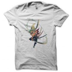 tee shirt one piece roronoa zoro white sublimation