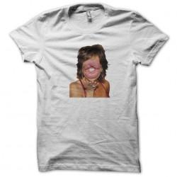big kisses white sublimation tee shirt