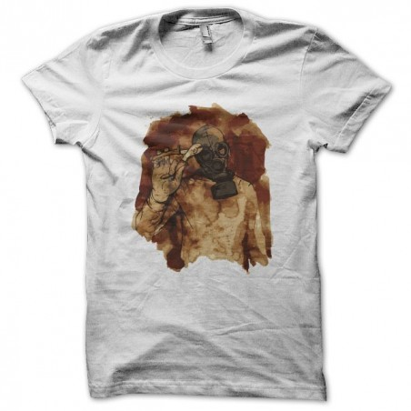 T-shirt gas mask and tongs white sublimation