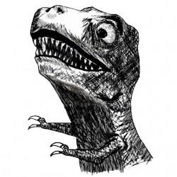 tee shirt t rex white...