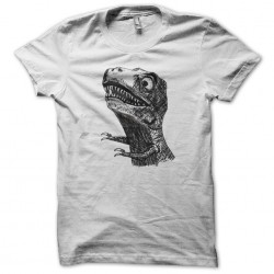 tee shirt t rex white sublimation