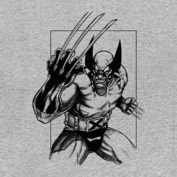 tee shirt wolverine gris sublimation