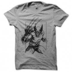tee shirt wolverine gray...