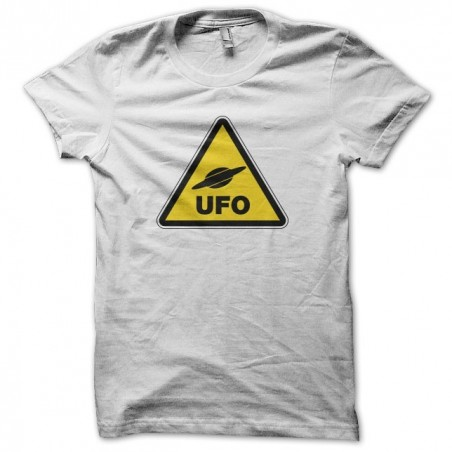Danger UFO Panel T-Shirt white sublimation