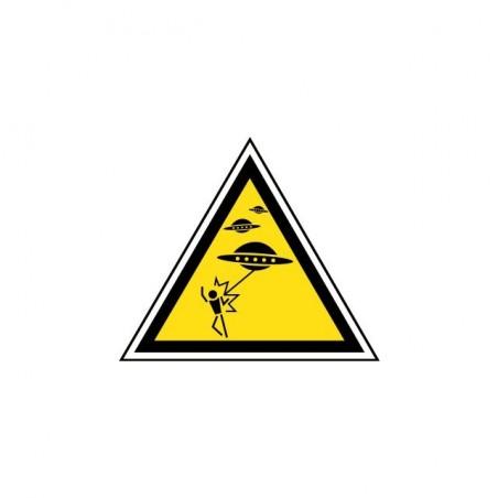 Tee shirt Panneau Danger attaque d'OVNI  sublimation