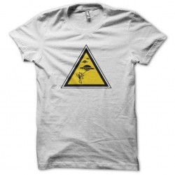 T-shirt Panel Danger UFO attack white sublimation