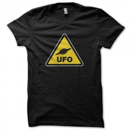 Danger UFO Panel T-Shirt black sublimation