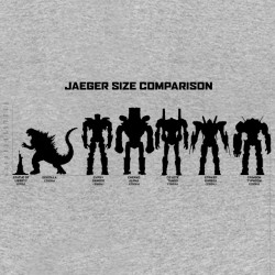 tee shirt Jaeger size comparison gris sublimation