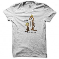 t-shirt calvin and hobbes bad guys white sublimation