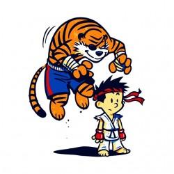 Ryu shirt and hobbes white...
