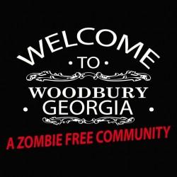Tee shirt  Welcome to Woodbury georgia Walking Dead  sublimation