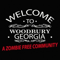 Welcome to Woodbury georgia Walking Dead black sublimation t-shirt