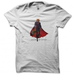 tee shirt Meom of steel parody white sublimation