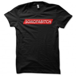black sublimation sonofabitch t-shirt