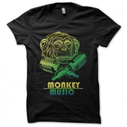 shirt Monkey music black...
