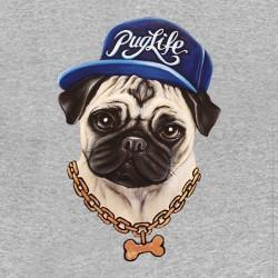 tee shirt Puglife gris...