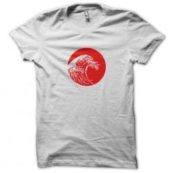 Japan tsunami white sublimation tee shirt
