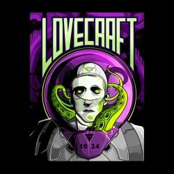 t-shirt lovecraft black sublimation