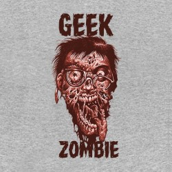 tee shirt Geek Zombie gray sublimation