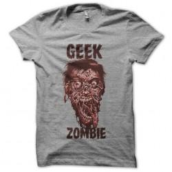 tee shirt Geek Zombie gray...