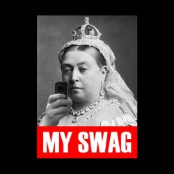t-shirt queen victoria My swag white sublimation
