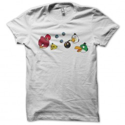 tee shirt the angry birds group white sublimation