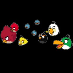 tee shirt the angry birds the black troupe sublimation