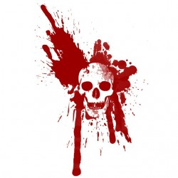 tee shirt blood stain on...