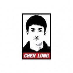 Tee shirt Badminton Chen Long parodie Obey  sublimation