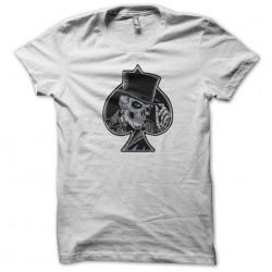 tee shirt ace of spades skull poker white sublimation