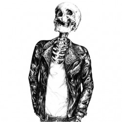 t-shirt skeleton outfit...